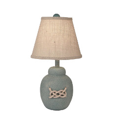 Coastal Lamp Bean Pot W/ Rope Accent