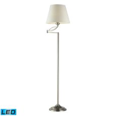 Elysburg 1 Light Led Floor Lamp In Satin Nickel