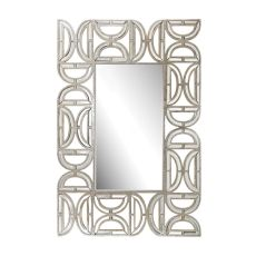 Rectangular Wall Mirror With D-Pattern Frame