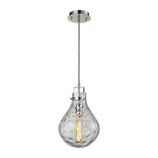 Dewdrop 1  Light Pendant In Polished Chrome