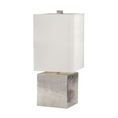Cement Cube Table Lamp In Nickel
