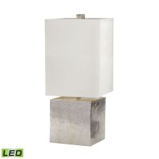 Cement Cube Led Table Lamp In Nickel