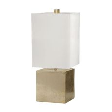 Cement Cube Table Lamp In Gold