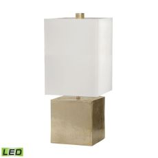 Cement Cube Led Table Lamp In Gold