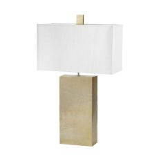 Cement Tower Table Lamp In Gold