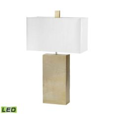 Cement Tower Led Table Lamp In Gold