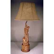 Carved Mermaid Lamp