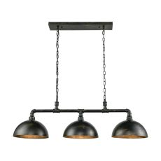 Mulvaney 3 Light Billiard Light In Black/Brushed Gold Accents