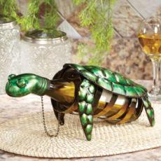 Figurine Metal Wine Bottle Holder - Turtle