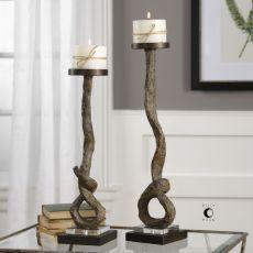 Driftwood Candleholders S/2