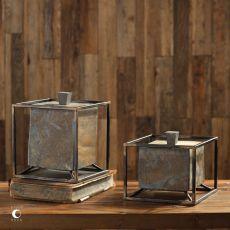 Slate Cube Boxes S/2