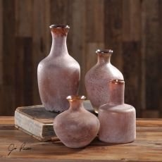 Carri Rust Red Vases S/4