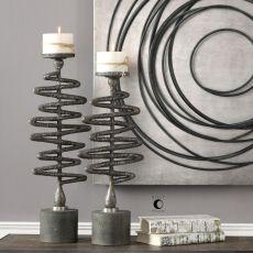 Zigzag Candleholders S/2