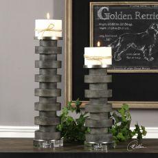 Karun Concrete Candleholders S/2