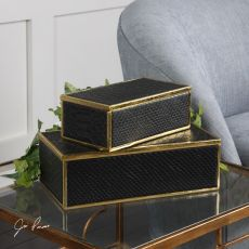 Ukti Alligator Patterned Boxes S/2