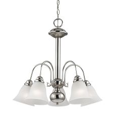 Bellingham 5 Light Chandeier In Brushed Nickel