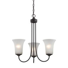 Charleston 3 Light Chandelier In Oil Rubbed Bronze
