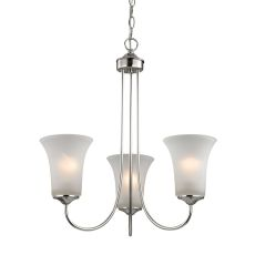 Charleston 3 Light Chandelier In Brushed Nickel