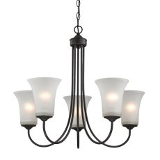 Charleston 5 Light Chandeier In Oil Rubbed Bronze