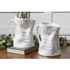 Basket Weave S/2 Vase