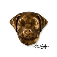 Beach Dog /  Labrador Retriever DogKnocker-Bronze
