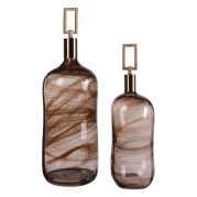 Uttermost Ginevra Glass Bottles S/2