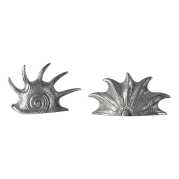 Uttermost Marine Mollusc Sculptures in Bright Silver S/2