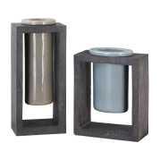 Uttermost Pio Industrial Ceramic Vases S/2