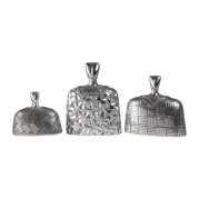 Uttermost Roberto Bright Silver Finial Set S/3