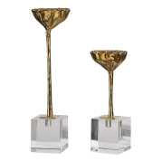 Uttermost American Lotus Pod Gold Sculptures S/2
