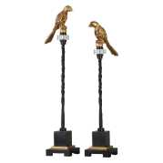 Uttermost Perched Gold & Iron Finials S/2