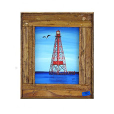 Sombrero Reef Lighthouse Framed Art Print