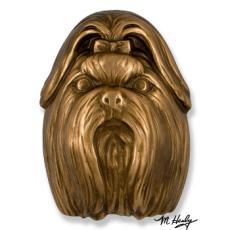 Beach Dog /  Shih Tzu DogKnocker-Bronze