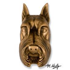 Beach Dog /  Schnauzer DogKnocker-Bronze