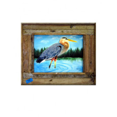 Wading Blue Heron Framed Art Print