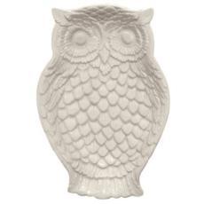 Owl Dish, Cream