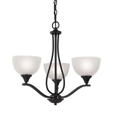 Bristol Lane 3 Light Chandelier  In Oil Rubbed Bronze