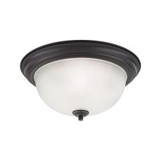 Bristol Lane 3 Light Flush Mount In Oil Rubbed Bronze