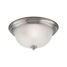 Bristol Lane 3 Light Flush Mount In Brushed Nickel