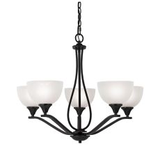 Bristol Lane 5 Light Chandelier  In Oil Rubbed Bronze