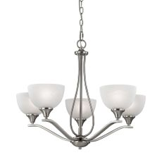 Bristol Lane 5 Light Chandelier  In Brushed Nickel