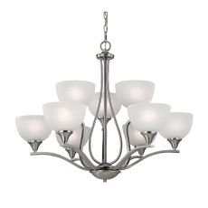 Bristol Lane 9 Light Chandelier In Brushed Nickel