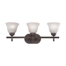 Santa Fe 3 Light Bath Bar In Oil Rubbed Bronze
