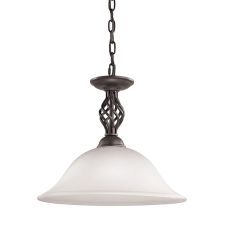 Santa Fe 1 Light Pendant  In Oil Rubbed Bronze