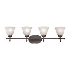 Santa Fe 4 Light Bath Bar In Oil Rubbed Bronze