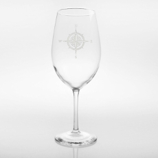 Compass Rose Large Wine Glass 18oz Set of 4