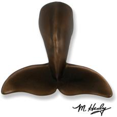 Humpback Whale Tail Door Knocker-Oiled Bronze, Nickel Or Brass