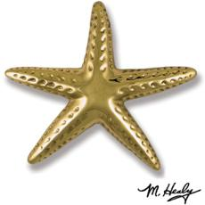 Starfish Door Knocker-Brass