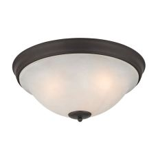 Hamilton 3 Light Flush Mount In Oil Rubbed Bronze