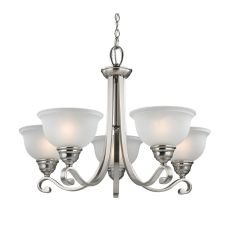 Hamilton 5 Light Chandeier In Brushed Nickel
